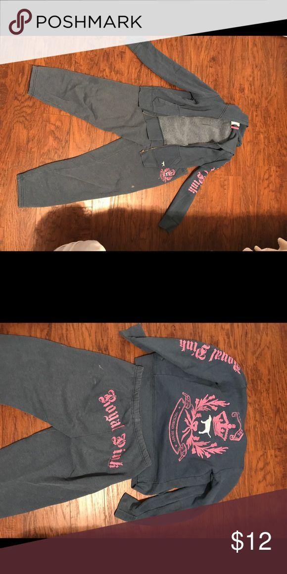 Victoria's Secret jogging suit Size small, but could fit medium PINK Victoria's Secret Pants Track Pants & Joggers