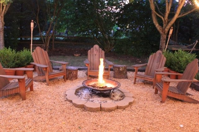 Diy Fire Pit Seating Idea Outdoor Firepits Pinterest