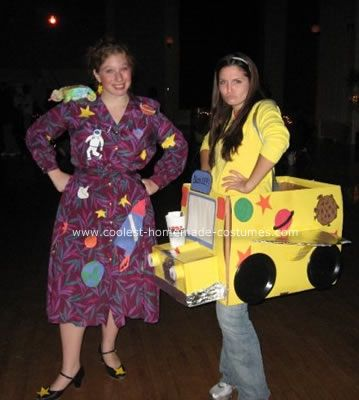 Ms. Frizzle and the Magic School Bus Costume for book week :) go solo with Ms Frizzle wearing the magic school bus