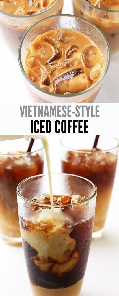 Sweetened Condensed Milk is the key to this Vietnamese-style Iced Coffee. It is rich, sweet, and a cooling refresher on hot summer afternoons.