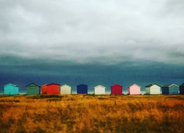 Hayling Island beach huts photo by Lizzie Reakes