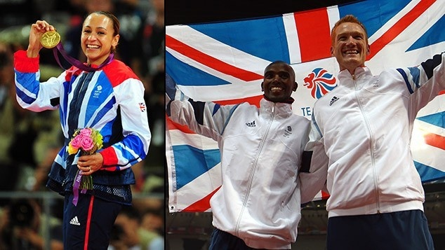 It took less than 60 minutes for three athletes to undo 104 years of Olympic track and field frustration for Great Britain as Jessica Ennis, Greg Rutherford and Mo Farah won gold medals in succession.