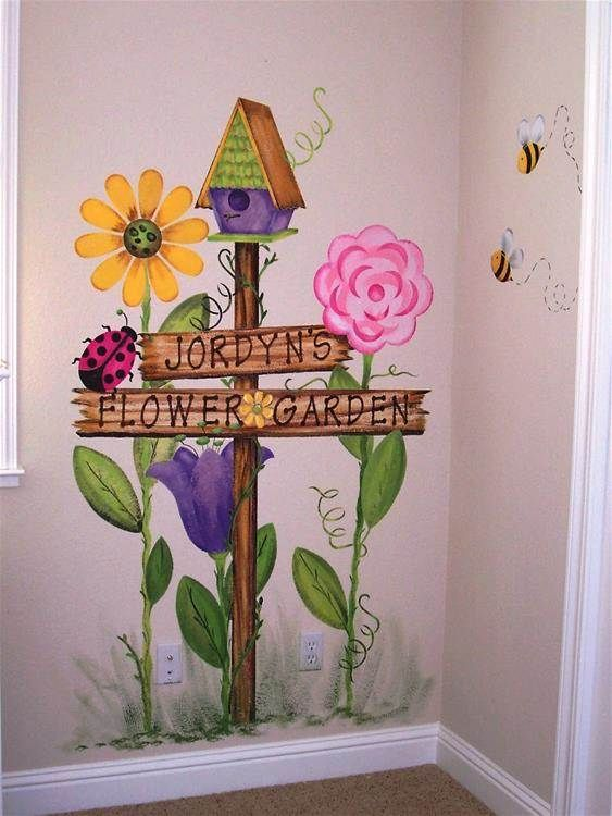 17 best ideas about garden mural on pinterest painted for Childrens mural ideas