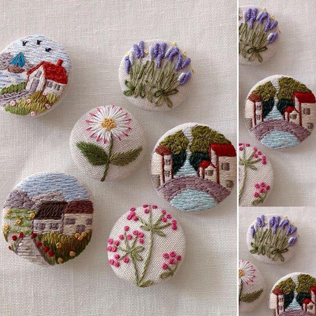 Küçük Mutluluklar...🏡🌲🏡Düğmeler&Buttons #küçükmutluluklar#küçükşeyler #düğme#buttons#nakış#embroidery#elişi#handmade#dekoratifnakış#