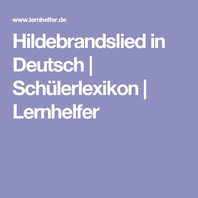 Hildebrandslied in Deutsch | Schülerlexikon | Lernhelfer