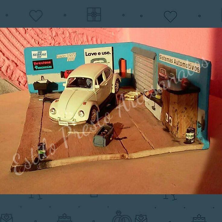 Diorama de Oficina: VW Fusca (1972). Escala 1/42  YouTube: https://www.youtube.com/watch?v=XPPbRCMRDLc