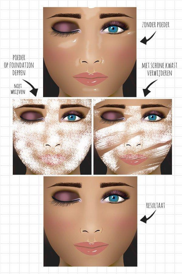 Wat is fixeren? en hoe doe je dat? Lees het nu in de voorlaatste stap van de Workshop MakeUp.   #fixeren #poeder #workshopmakeup #feellikaprincess #makeup