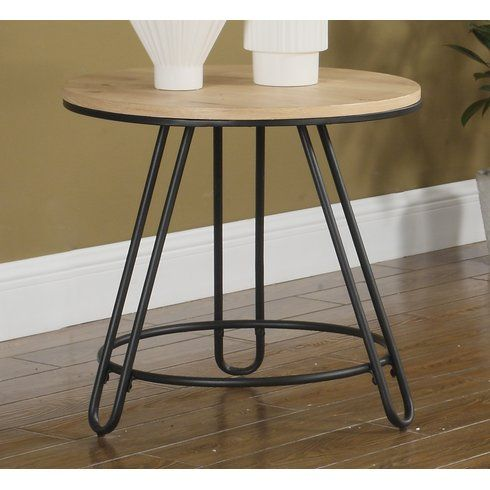 Aleman Round End Table