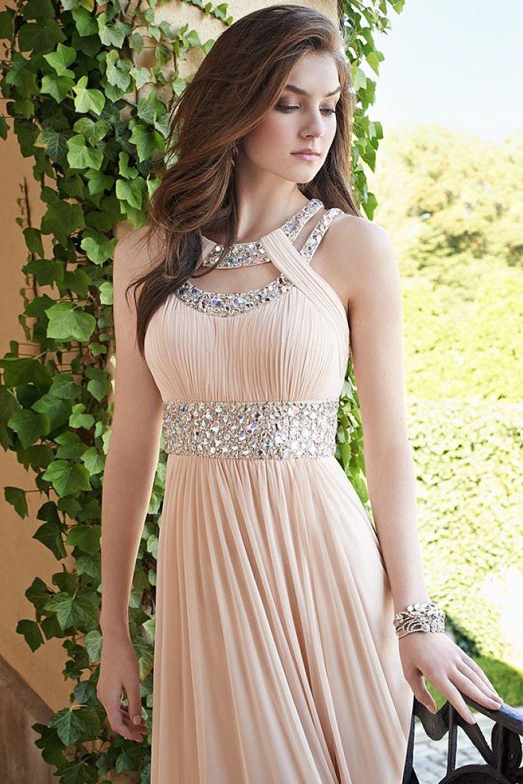 Adorable Chiffon Floor-length Sleeveless A-line Prom Dresses - by OKDress UK