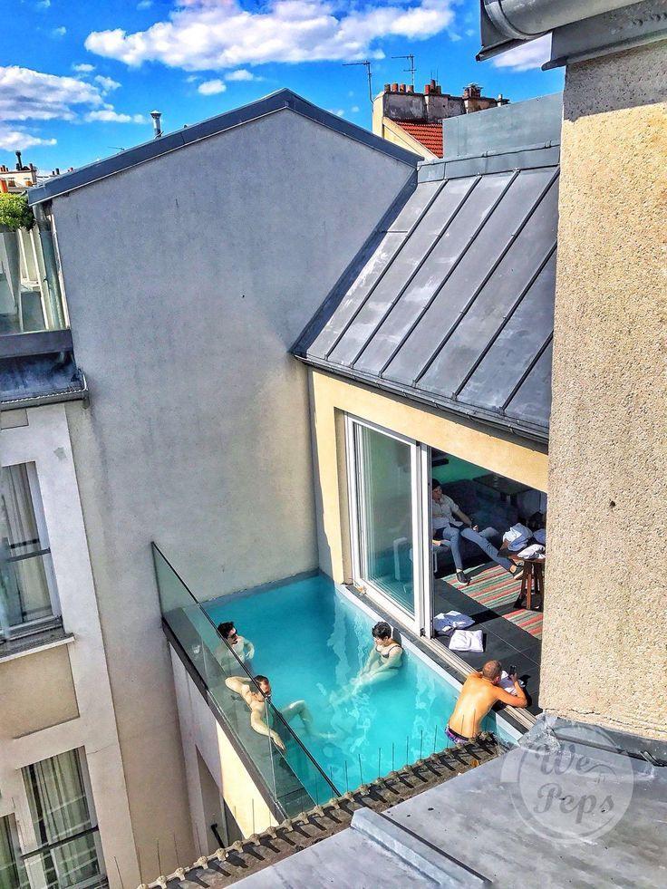 We Peps Piscine Sur Les Toits De Paris Coole Pools Schwimmbader Schwimmbad Designs