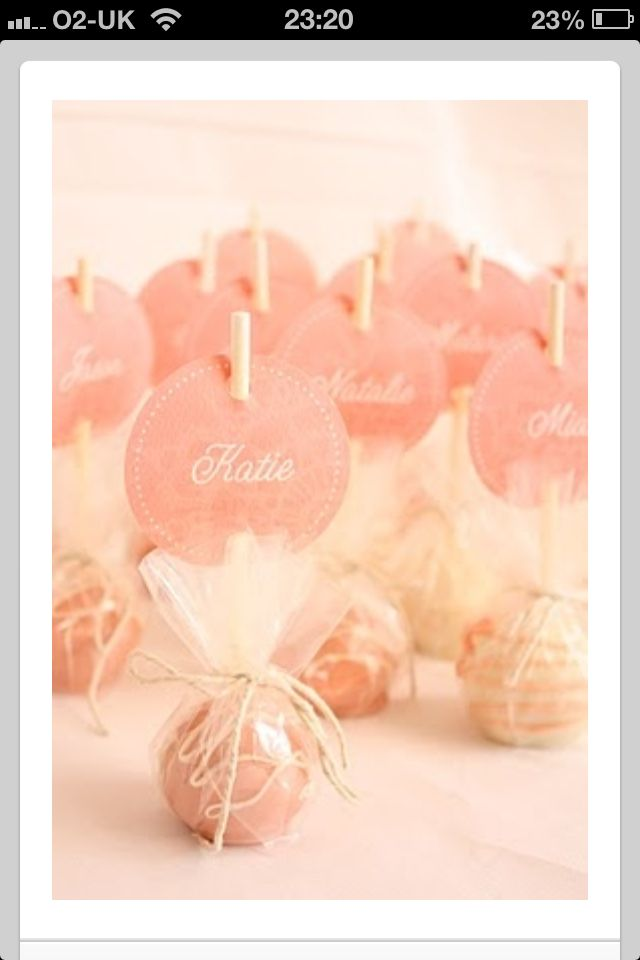 Place cards and wedding favor