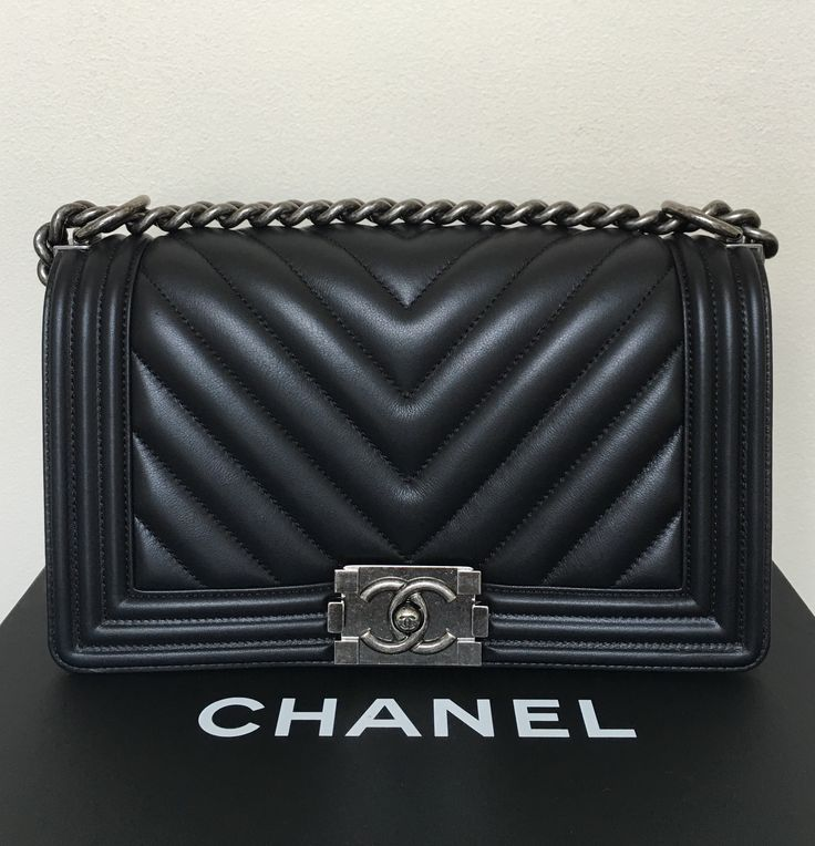 Chanel Boy Chevron Medium Black Cross Body Bag. Get the trendiest Cross Body Bag of the season! The Chanel Boy Chevron Medium Black Cross Body Bag is a top 10 member favorite on Tradesy. Save on yours before they are sold out!