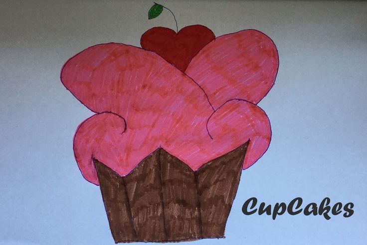 Cupcake leren tekenen (Handleiding)
