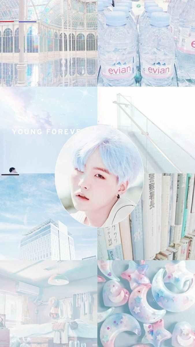 Bts Suga Wallpaper Sky Blue Pastel Aesthetic Br Pastel Wallpaper Bts Aesthetic Wallpaper For Phone Min Yoongi Wallpaper