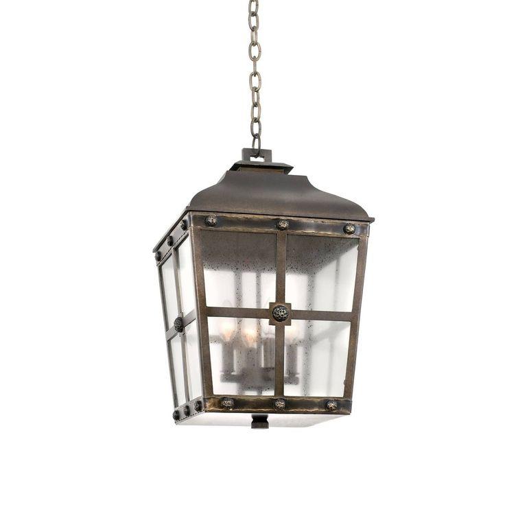 Kalco Sherwood Large 4-light Hanging Lantern Pendant Bronze (Metal)  sc 1 st  Pinterest & Best 25+ Lantern pendant lighting ideas on Pinterest   Island ... azcodes.com