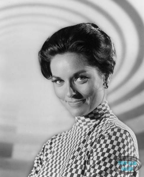 Lee Meriwether in front of the Time Tunnel