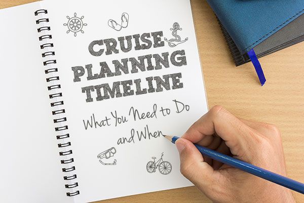 You've decided you want to take a cruise, but you're not sure what the next steps should be. We've put together a cruise-planning timeline so you know exactly what you should be doing and when, making your cruise as carefree and relaxed as possible.