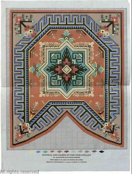 A Berlin WoolWork Pattern Produced In France & Published In Le Journal Des Dames Et Des Demoiselles ~ MoMu