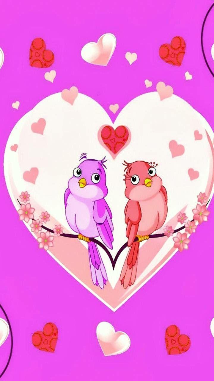 Love Birds Cute Wallpapers Pink Wallpaper Pink Background