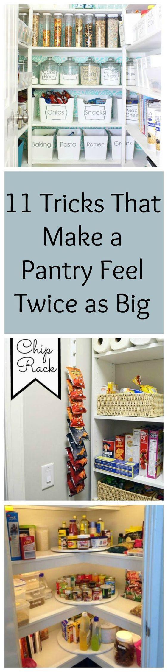 11 organization tricks that make a pantry feel twice as big - Kitchen Pantry Organization Ideas