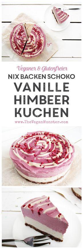 Nix Backen Schokoladen Vanilla Himbeer Kuchen (Vegan, Glutenfrei)