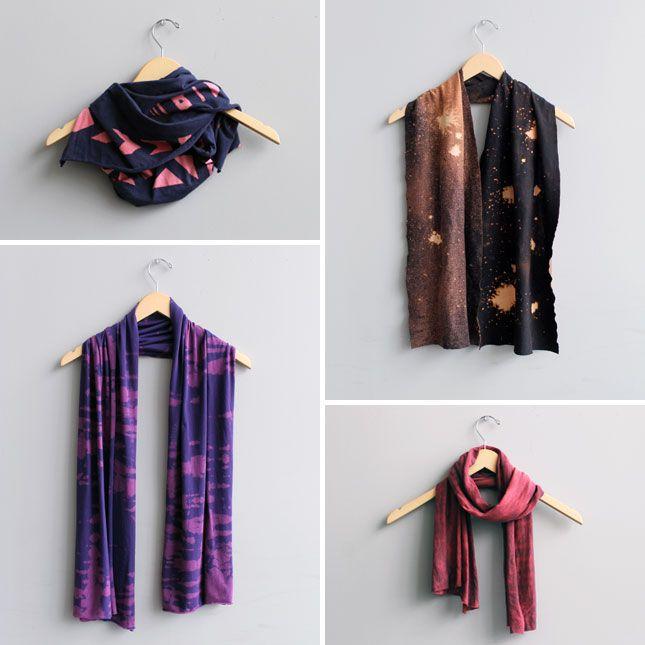 DIY Reverse Tie Dye Scarves