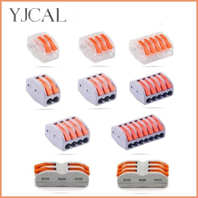 Wago Type Electrical Wiring Terminals Cage Spring Universal Fast Terminal Household Wire Connectors For Connection Wire Connectors Connectors Electrical Wiring