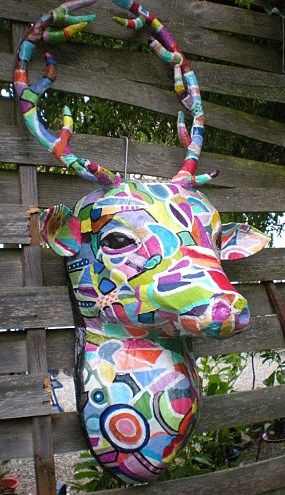 1000 images about t tes de cerf on pinterest papier for Decoration murale tete de cerf