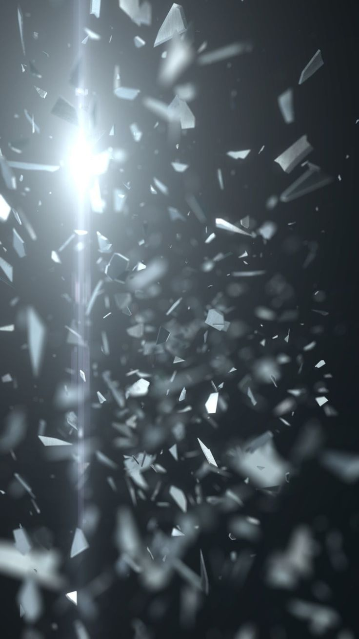 Abstract Black Shattered Glass Tap To See More Cool 3d Abstract Iphone Wallpapers Backgrounds