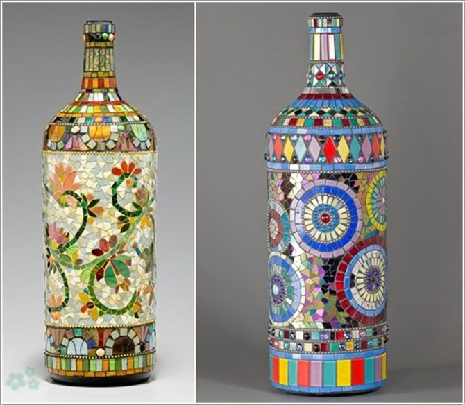 102 best botellas de vidrio images on Pinterest Decorated bottles