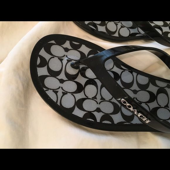 Coach flip flop sandals for summer! Beautiful brand new coach flip flops with logo design Coach Shoes Sandals