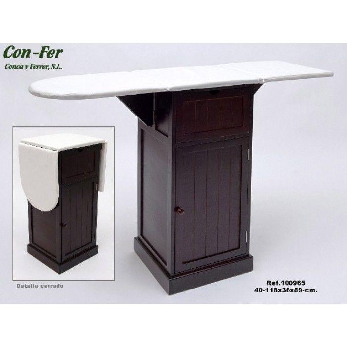 Mueble Plancha Madera Nogal con Armario y 1 Cajón CF100965 en Nuryba.com ✓Compra Segura ✓Atención Personalizada ✓14 Dias Devolucion