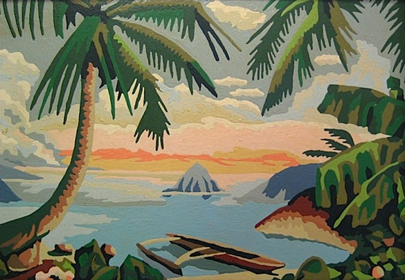 Peaceful Tropics by Craft Master.  Paint by Number.