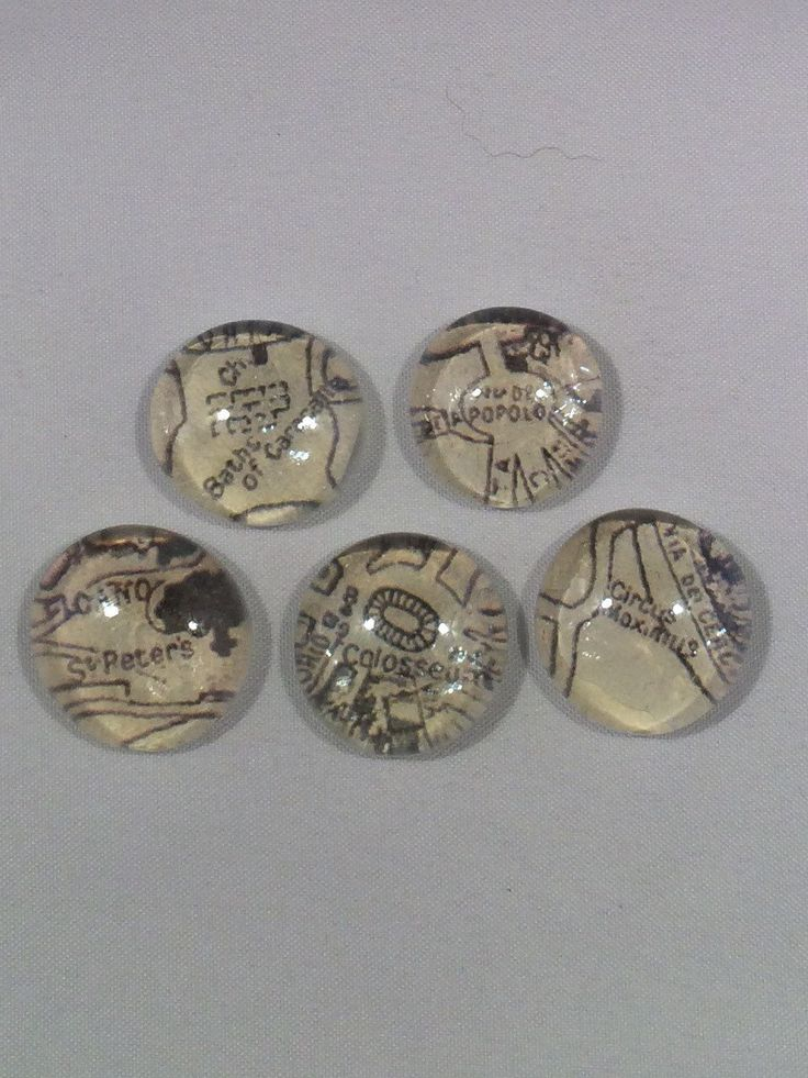Map of Rome Magnets, glass bubble magnets with points of interest from a map of Rome, set of 5 by TheMagnetorium on Etsy
