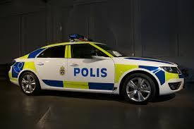 SAAB 9-5 - Police car Sweden