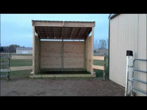 Building Lean Barn Or Shelter On Skids Youtube Things