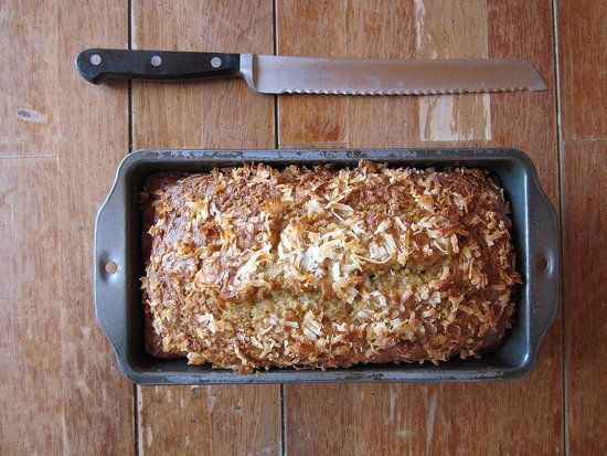 Coconut Banana Bread : At about 115 calories per slice, this coconut banana bread is a guiltless treat. Greek yogurt is a light substitute for butter and using whole wheat flour will keep you full longer.  Sounds fabulous!