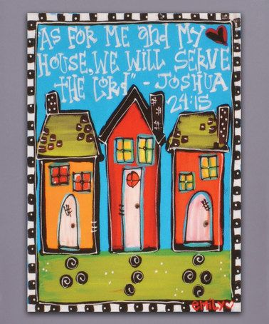 Look what I found on #zulily! 'As for Me & My House' Wrapped Canvas #zulilyfinds