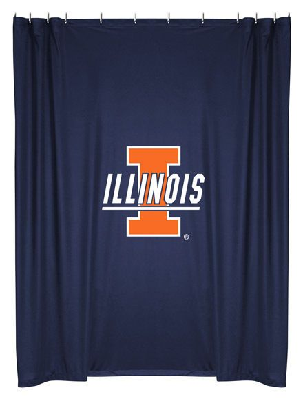 Illinois Fighting Illini NCAA Sports Coverage Team Color Shower Curtain #SportsCoverage #IllinoisFightingIllini