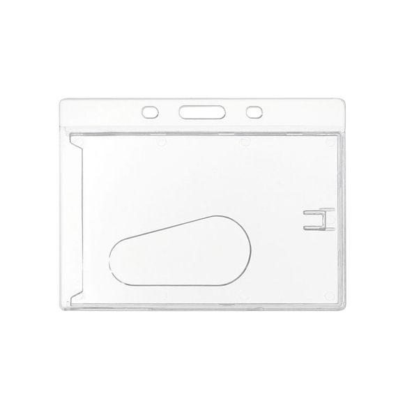 COD.LI014 Porta-Credencial de Acrílico transparente, para Credenciales tamaño Tarjeta de Crédito. Presentación horizontal.