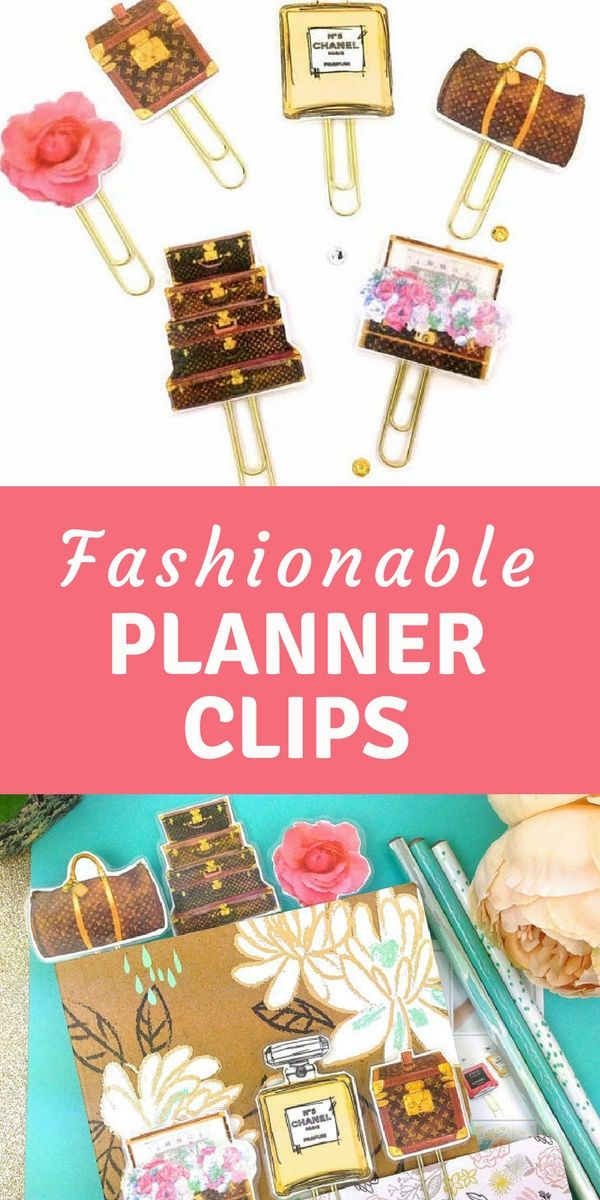 Planner Paper Clip, Designer watercolor Planner Clips. Glam Fashion suitcases. Designer suitcases - Novelty Paper Clips | Novelty Magnets #ad