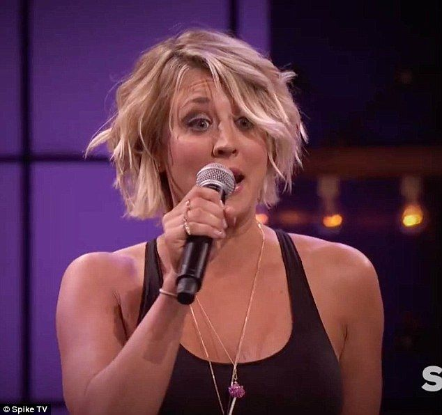 kaley cuoco lip sync battle | Excited: Kaley Cuoco says in the clip: 'I have been begging to be here ...