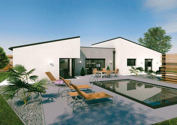 Découvrez les plans de cette un vaste plain-pied original sur www.construiresamaison.com >>>