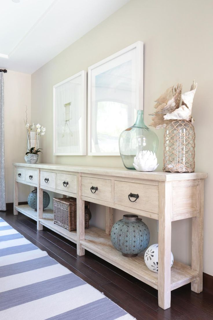 best 25 dining room console ideas on pinterest farm tables framed photos of beach scenes set the tone for this coastal inspired dining room