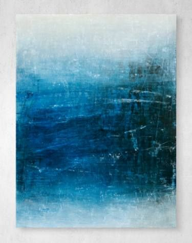 "David Fredrik Moussallem's abstract painting, ""Dark Indie Blue - Volume 1"" is a subtle but striking addition to any art lovers collection this holiday season. #GiftsforHim"