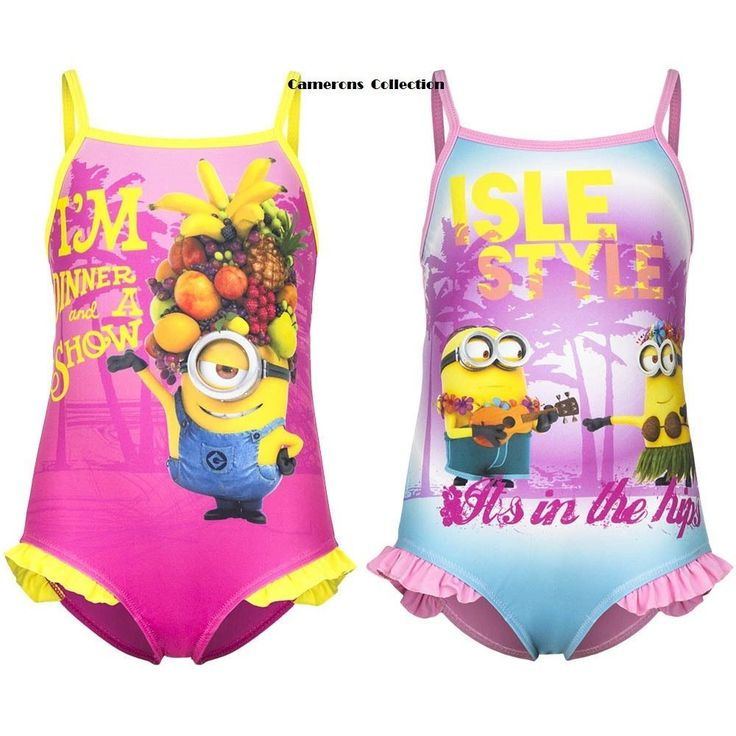 Girls 'despicable me'  #minions #swimming #costume/bather  ages  3. 4. 6. 8. yrs,  View more on the LINK: http://www.zeppy.io/product/gb/2/311636281703/