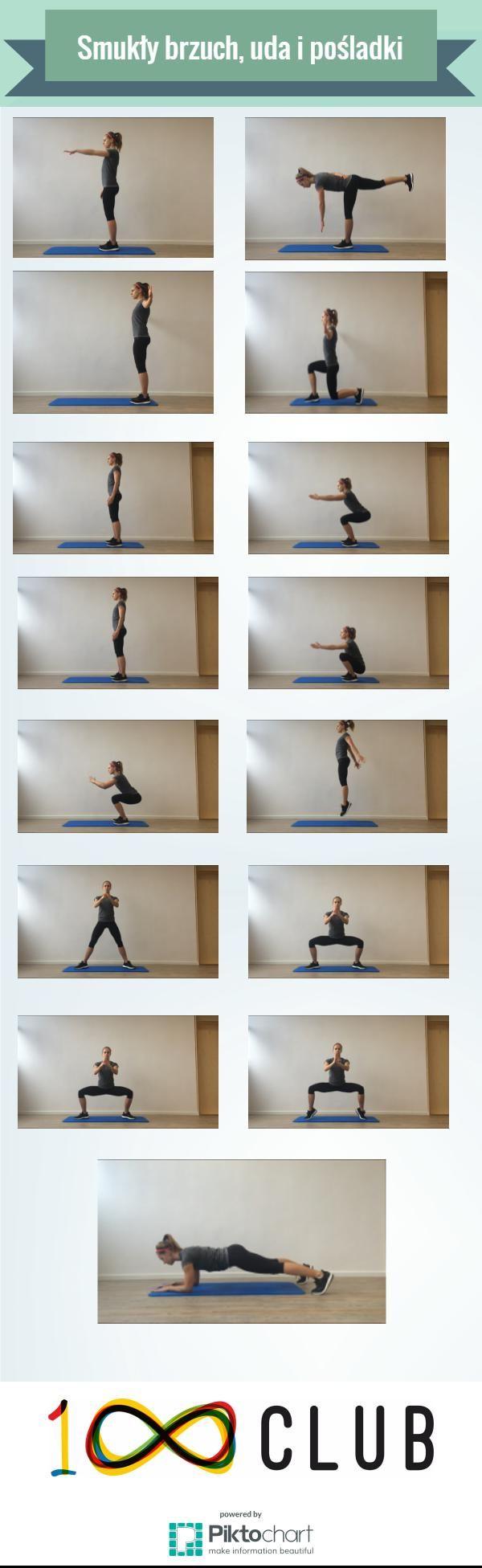 Trening na smukły brzuch, uda i pośladki - odsłona pierwsza! #trening #kobieta #fitness #fit #100club