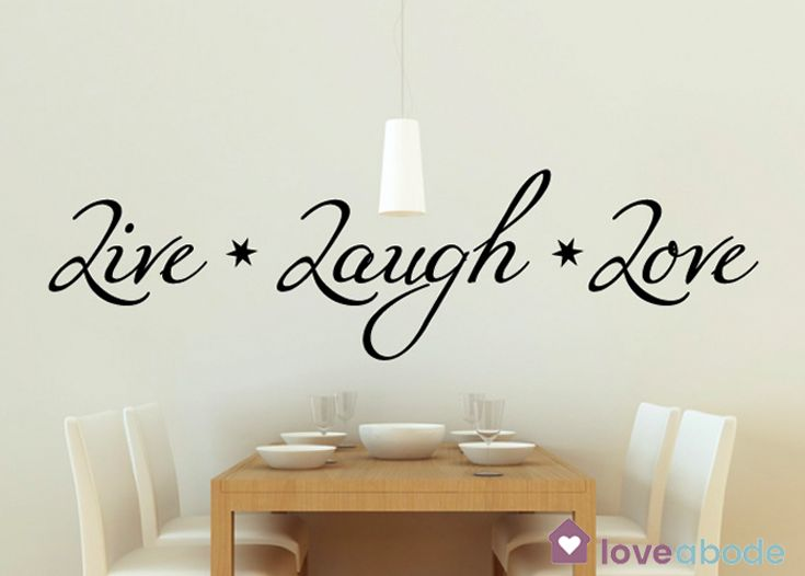Surround your family with the extra love of our happy wall words https