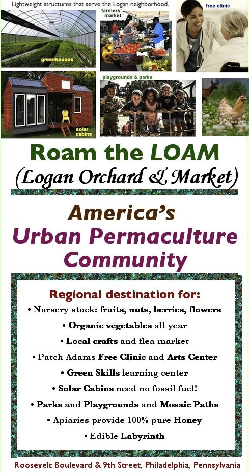 LOAM serves the Logan neighborhood with fresh food, genuinely affordable housing, health care and jobs. It also becomes a regional center for green city skills and tools.