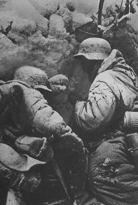 The German soldiers frozen in the cold of winter at Stalingrad, which is widely referred to as the turning point of World War II in Europe